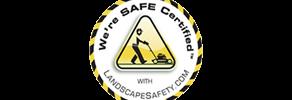 We're Safe Certified logo from LandscapeSafety.com