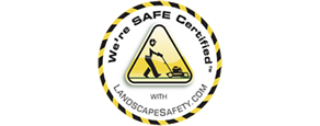 We're Safe Certified logo from LandscapeSafety.com
